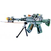 Toyshine 55CM Musical Army Style Toy Gun for Kids with Music, Lights and Laser Light