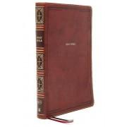 KJV Thinline Bible Giant Print Leathersoft Brown Red Letter Comfort Imprimer par Nelson & Thomas