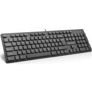 Tastatura Delux KA150U USB, US layout (Neagra)