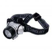 Lanterna frontala HQ, 3 x AAA, LED, Negru/Argintiu
