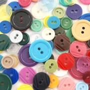 CreativeHobby Mix kolorowych guzików - 3 wielkości/200 szt - MIXII