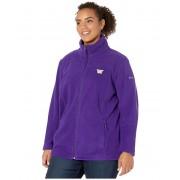 Columbia College Plus Size Washington Huskies CLG Give and Gotrade II Full Zip Fleece Jacket Purple
