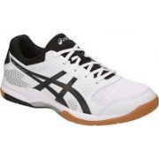 Asics GEL-ROCKET 8 Badminton Shoes For Men(White, Black)