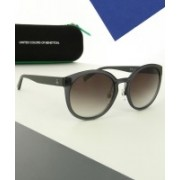 United Colors of Benetton Oval Sunglasses(Blue)