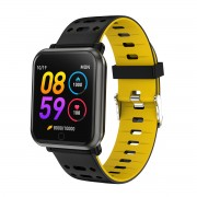 P11 1.3 inch Color Screen Smart Bracelet Fitness Tracker Heart Rate Blood Pressure Monitor - Yellow