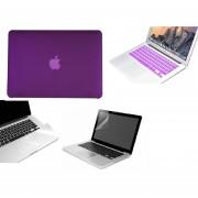 Case Carcasa + Protector De Teclado / Pantalla / Trackpad Para Macbook Pro 13'' Touch Bar Model (A1706) -Morado Solido