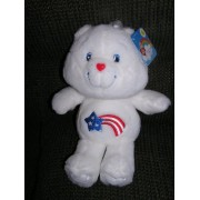 "Care Bears Collectors Edition 20th Anniversary 12"" Plush America Cares Bear From Carlton Cards"