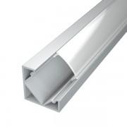 Profilo alluminio ad angolo per Striscia led