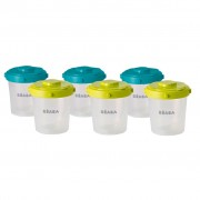 Beaba Six Piece Clip Lock Food Storage Container Set 200 ml 912482