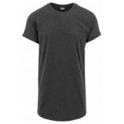Tricou long shaped turnup tee - Urban Classics - GRI CARBUNE