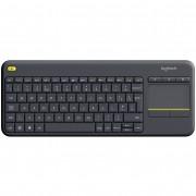 Tastatura Wireless Logitech K400 Plus Dark, Touchpad, USB, Black