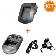 Kit Incarcator Power3000 pentru acumulator Nikon tip EN-EL10/ Olympus tip Li-40B,Li-42B / Fujifilm tip NP-45 + Bonus adaptor auto
