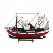Barca de pescuit din lemn 46x31cm 5105