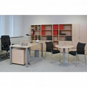 Interiér Říčany Kancelářský nábytek sestava ProOffice 3 divoká hruška