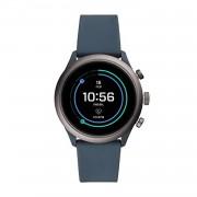 Fossil Bracelet de montre Fossil FTW4021 Silicone Bleu 20mm