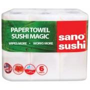 Prosoape de bucatarie 6 role/set 2 straturi Sano Sushi Magic