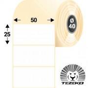 50 * 25 mm-es, 1 pályás papír etikett címke (2500 címke/tekercs)