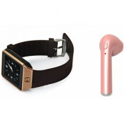 Mirza DZ09 Smart Watch and HBQ I7R Bluetooth Headphone for OPPO FIND 7A(DZ09 Smart Watch With 4G Sim Card Memory Card| HBQ I7R Bluetooth Headphone)