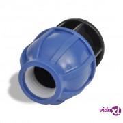 vidaXL PE spojnica za crijeva zatvaračem,16 Bar, 20 mm, 2 kom