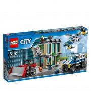Giocattolo lego city rapina con il buldozer 60140