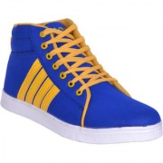 Sukun MenS Blue Yellow Casual Lace-Up Shoes (ADD333BLY)