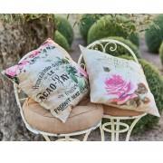 LOBERON Kussenhoes set van 2 Fiorina / roze/beige
