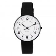 Arne Jacobsen Clocks Armbandsur Station Vit/svart/svart 34 mm Arne Jacobsen Clocks