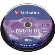 Verbatim DVD+R Verbatim 8.5GB 8X 10-pack Double Layer, Spindel
