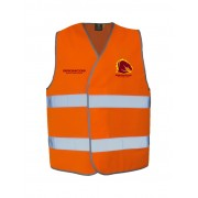 Hi Vis Broncos Taped Safety Vest - Orange 3XL