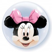 "Balon Double Bubble 24""/61cm Qualatex, Minnie Mouse, 27568"