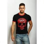 Epatage Мужская стильная футболка с принтом в виде черепа черного цвета Epatag RT010401m-EP