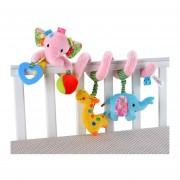 Activa Espiral Bebé Cochecito Colgante Juguetes Peluche -Elefante Rosa