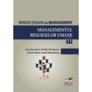 Minidictionar De Management 11 Managementul Resurselor Umane - Ovidiu Nicolescu