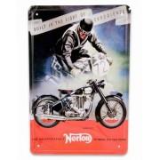 Symantec Norton Motorcycle - 30x20 cm Metallskylt