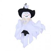 Asiproper Bar Haunted House Scene Props Pumpkin Ghost Ornament Halloween Decor One Size White