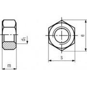 matice M45 ZINEK /6/, znač. /8/ přesná šestihranná DIN 934