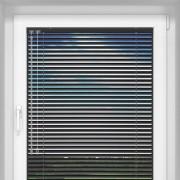 Livani Veneciana de Aluminio 25mm, A Medida, STANDARD, Negro mate