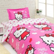 Lenjerie de pat pentru copii Disney Hello Kitty Miss Love, bumbac 100%, 3 piese
