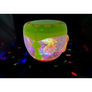 Ascension ® Aquarium Shaped Music Flash Battery Operated Kids Drum Rotating Lamp Light Toy 3D Lights & Fishes with Music, Songs and Learn English