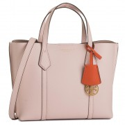 Дамска чанта TORY BURCH - Perry Small Triple-Compartment Tote 56249 Shell Pink 652