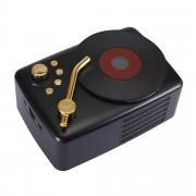 T12 Retro Wind Portable Bluetooth 5.0 Wireless Speaker USB / TF Card Music Player Hifi Subwoofer - Black