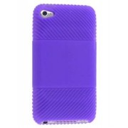 Silicone Case for iPod Touch 4 - Apple Soft Cover (Purple)