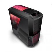 Skrinka Zalman MidTower Z11 PLUS HF1, mATX/ATX, bez zdroja, USB3.0, červeno-čierna