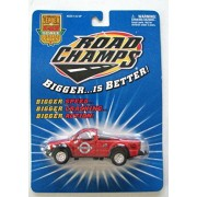 Road Champs 1/43 Scale Red Pick-Up Truck ' County Road Crew Works'