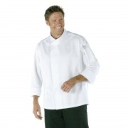 Chef Works Tours Cool Vent Unisex Chefs Jacket White L Size: L