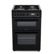 Hotpoint HAG60K Gas Cooker with Double Oven - Black