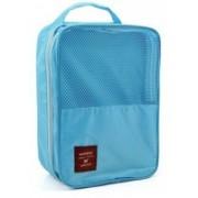 Italish 2 Layer Waterproof Travelling Shoe Footwear Storage Bag Organiser Pouch Travel Toiletry Kit(Blue)