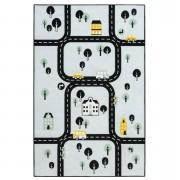 Tapis Mood Ring Road - bleu - 95x125 cm - Leen Bakker