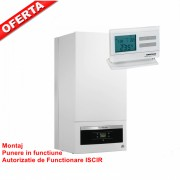 OFERTA Centrala termica in condensare Buderus Logamax Plus GB062 - 24KDH V2 - 24 kW + Termostat Computherm Q7 RF + Montaj + PIF + AF