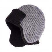 Zimowa czapka, uszatka męska - Jasnoszary